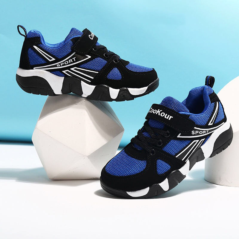 2020 Autumn Children Sports Shoes Boys Breathable Running Sneakers Kids Outside Travelling Leather Shoes Size 28 To Size 41