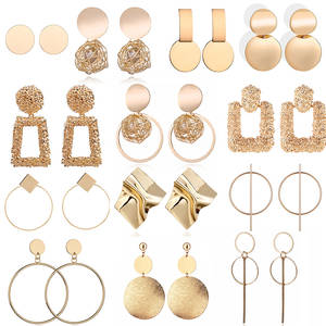 Statement-Earrings Female Jewelry Hanging Geometric Women Fashion Big for Drop-Earing