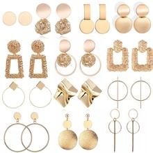 Statement-Earrings Female Jewelry Hanging Geometric Big Women Fashion Modern for Drop-Earing