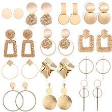 Pendientes de declaración de moda 2019 grandes pendientes redondos geométricos para mujer pendientes de gota colgantes pendientes de oreja moderna joyería femenina