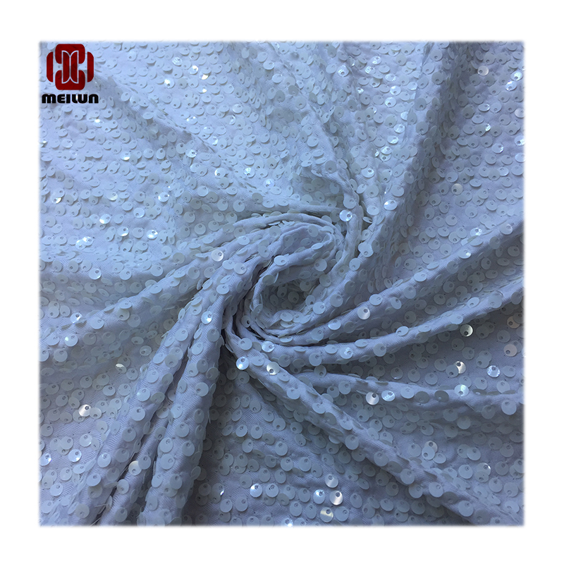 Meilun Hot Double Face Sequins Fabric For Handbags Garments DIY Tissue Sewing Fabric Material Craft Making Accessories