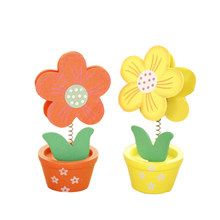 2Pcs Wooden Cartoon Cardstock Notes Folder Photo Clip Card Message Clip Office Supplies Study Desk Information Photo Clip(China)