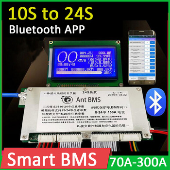 Smart BMS 10S-24S Lithium Battery Protection Board Li-ion lifepo4 LTO 300A 200A 100A 14S 16S 20S 48V 60V 72V Bluetooth APP ANT image
