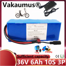 36V lithium battery 10S3P 6Ah 18650 BMS 350W motorcycle electric car bicycle scooter high power + 42V 2Ah battery charger liitokala 18650 battery 36v 25ah 30ah 20ah 15ah lithium battery electric motorcycle bicycle scooter with bms