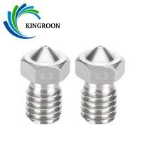 5 uds E3D V5 V6 boquilla de acero inoxidable 0,2mm 0,3mm 0,4mm 0,5mm 0,6mm 0,8mm hilo M6 boquilla 3D pieza de impresora 1,75mm filamento de 3,0mm