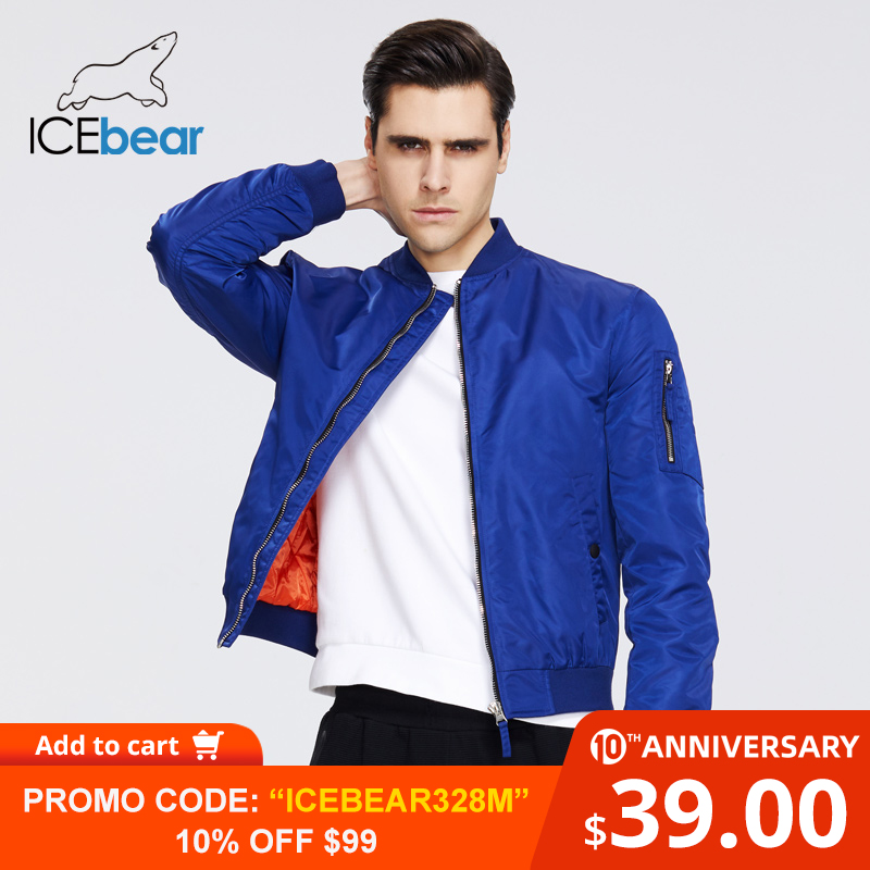 ICEbear 2020 New Spring Men's Short Jacket Fashion Flight Jacket Men's Jacket High-quality Brand Jacket MWC20706D