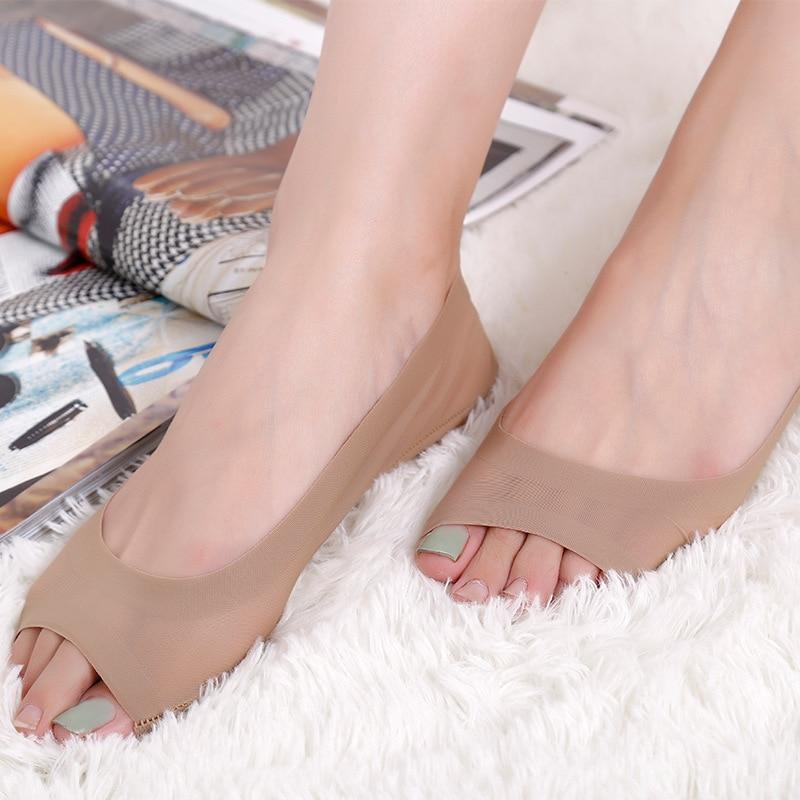 Summer Women Girl Silica Gel Boat Socks Invisible Cotton Sole Non-slip Antiskid Slippers Anti-Slip Shallow Moomin Low Cut Socks