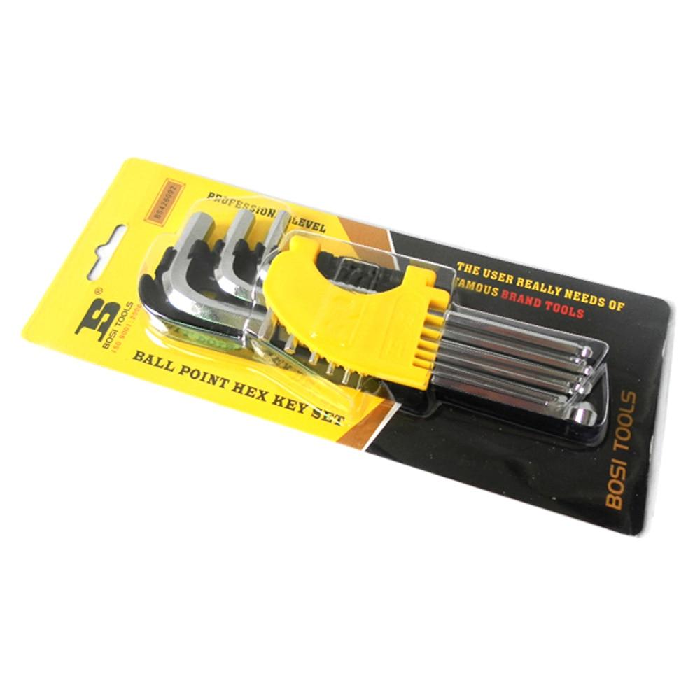 BOSI 1,5-10mm 9tk pikkune kuuskantvõtmega mutrivõtme - Käsitööriistad - Foto 6