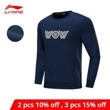 Мужской спортивный свитер ли-нин, зимний флисовый Стандартный крой, 72% хлопок, 28% полиэстер, подкладка Li Ning, спортивный трикотажный топ AWDP673