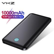 YKZ 10000mah batterie d'alimentation Portable USB Type C Mini Powerbank Charge rapide chargeur de téléphone Portable Micro USB batterie externe voyage C for iPhone 12 Xiaomi MI 9 8 Samsung Huawei P40 Mate 40 30