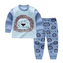 2 szt Odzież dziecięca piżamy Unisex zestawy ubrań dla dzieci odzież dla niemowląt zestawy dla niemowląt nowonarodzone chłopcy dziewczęta kreskówka kaczka ubrania tanie tanio MUPLY COTTON Damsko-męskie W wieku 0-6m 7-12m 13-24m 25-36m 4-6y moda CN (pochodzenie) CZTERY PORY ROKU Z okrągłym kołnierzykiem