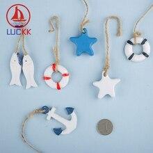 LUCKK Mediterranean Style Wooden Creative Nautical Model 13 Miniature Crafts Marine Accessories Art Supply DIY Decoration