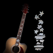 High Quality Guitar Inlay Decals Sticker Fretboard Markers Maple Leaf Shape for Electric Acoustic Classical Guitar Bass Ukulele стоимость