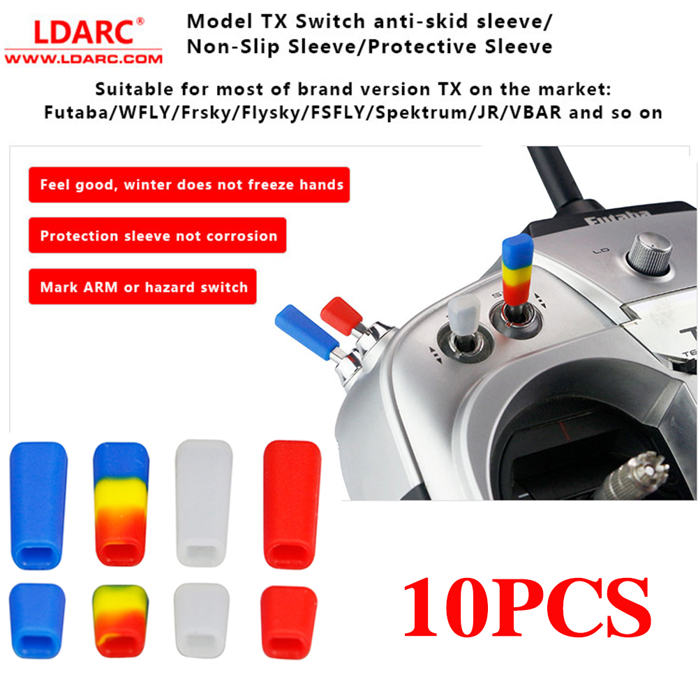 10PCS LDARC TX Switch Nati-Skid Sleeve/Non-Slip Sleeve Protective Sleeve For Flysky JR Radio Transmitter Spare Parts Accessories