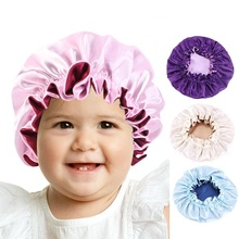 Bonnet Hair-Accessories Reversible Head-Wrap Satin Night-Sleep-Cap Kids Woman for Child