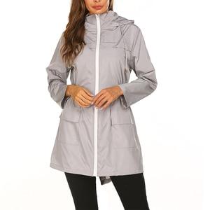 Image 2 - 女性のレインコート女性バイクサイクリングレインコートカバーマント不浸透性屋外防水女性のファッションの高級雨ジャケットスーツ