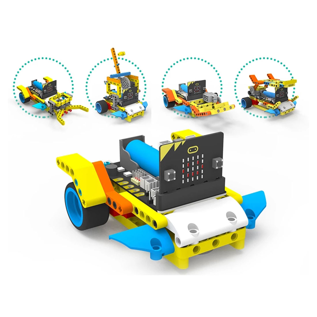 Program Intelligent Robot Building Block Car Kit Various Shape Steam Programming Education Car For Micro:bit(Not Micro:bit Board