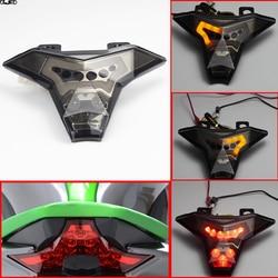 Akcesoria motocyklowe tylne światło hamulca kierunkowskazy zintegrowane światło led dla Kawasaki Z1000 2014 2016/Ninja ZX10R 2016 na