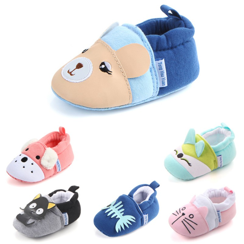 Baby Thickening Warm Indoor Shoes Children Cotton Shoes Kids Home Slippers Boys Girls Cute Cartoon Shoes
