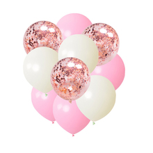 10 Pcs/lot 12 Inch Mixed Gold Confetti Balloons Decorative for Parties and Festivals birthday Latex Balloon Party Decor