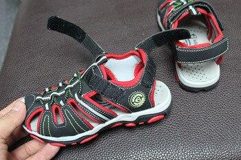 New Design 1pair Boy Children Bech Sandals Leather Shoes ,Leisure Kids Shoes