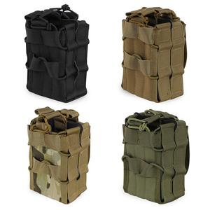 Molle System Double Magazine Pouch Tactical AK 7.62 M4 5.56 Rifle Hunting Accessories Paintball Airsoft Pouch Military Magazine(China)