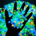 300 Teile/beutel Glow In The Dark Kiesel Garten Dekoration Außen Yard Decor Luminous Kies Aquarium Glow Felsen Kiesel Dekor
