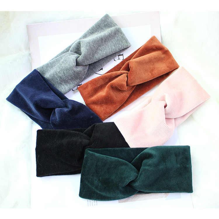 Envío Gratis moda vintage bandas cruzadas para mujer diademas para niñas accesorios para el cabello para mujer