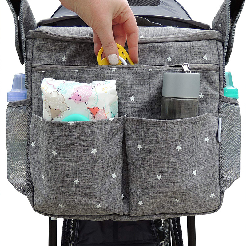 MOTOHOOD Baby Diaper Bags For Mom Backpack Fashion Star Maternity Bag Stroller Bag Multifunctional Nappy Bag For Mummy (2)