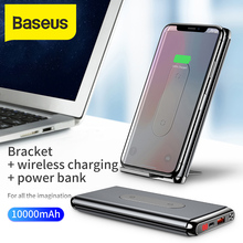 Baseus 10000mAh Power Bank QI Wireless Charger For iPhone Sa