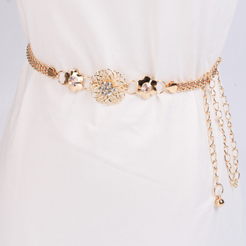 Hip High Waist Belts Female Fringe Metal Chain Belt Women Tassel Flannel Belt Exaggerated Vintage Flocking Waist Chain 916