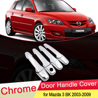 for Mazda 3 BK Sedan Hatch MPS 2004 2005 2006 2007 2008 2009 Luxuriou Chrome Door Handle Cover Trim Set Car Styling Accessories