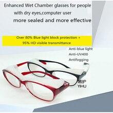 Wet Chamber glasses anti-eye dryness protective glasses after surgery eye dryness moistening anti-UV blue light block glasses