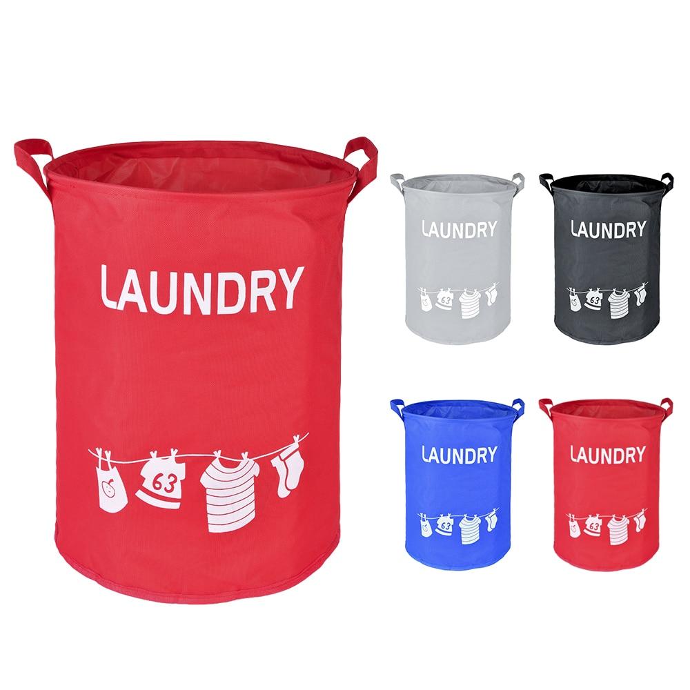 Washing Laundry Storage Bags Dustproof Waterproof Foldable Oxford Laundry Basket Home Hampers Kids Toys Storage Bucket