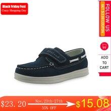 Apakowa buty dla chłopców wiosna skóra ekologiczna na jesień maluch dzieci mokasyny mokasyny solidne antypoślizgowe buty dziecięce dla chłopców EUR 26 37