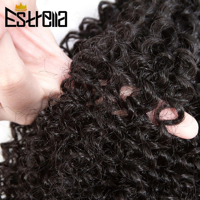"Extensiones de cabello humano rizado brasileño, 1/3/4 Uds., cabello humano Remy, mechones rizados, extensiones de cabello de 8 ""-28"""
