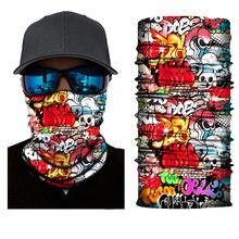 Cycling bicycle Motorcycle Headband Scarf Neck Warmer Skull Helmet Face Mask Ski Balaclava Headband halloween Full Face Shield