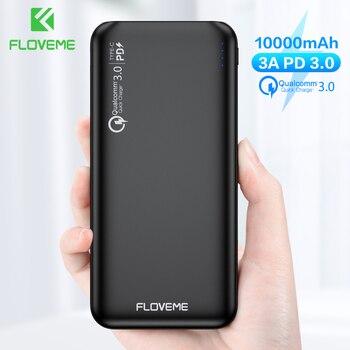 FLOVEME QC3.0 batterie externe 10000 mAh Charge rapide 3.0 pour Xiaomi Powerbank 10000 mAh PD batterie externe chargeur Portable 1