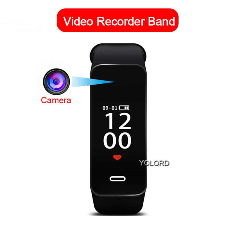 Schlank HD 1080P <font><b>Cam</b></font> Kamera Voice Recorder Video Audio Uhr SmartBand Armband Smart Band image