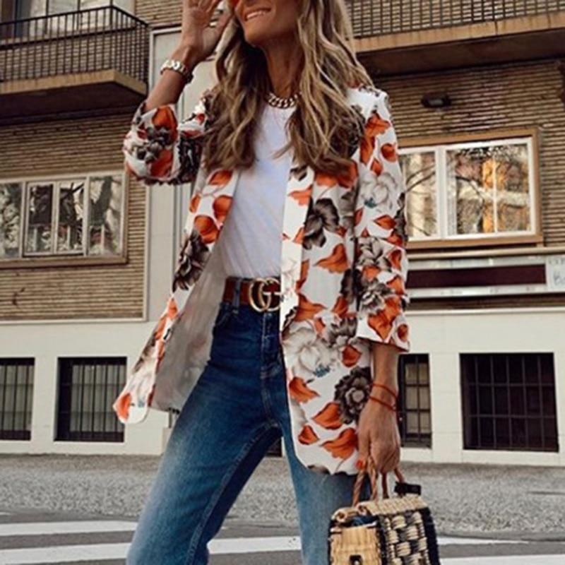 H8fd4271d980646558287cf97dcb9c9a7k Fashion Trend Women Lapel Leopard Print Long Sleeves Suit Jacket Elegant Fall Winter Office Lady Cardigan Coat Casual Streetwear