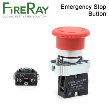 FireRay Emergency Stop Button NC for CO2 Laser Engraving Cutting Machine