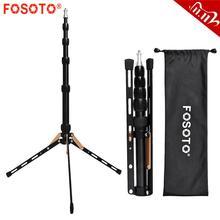 Fosoto FT 140 Led ışık standı taşınabilir Tripod fotoğraf aydınlatma flaş şemsiye reflektör fotoğraf stüdyosu kamera telefonu