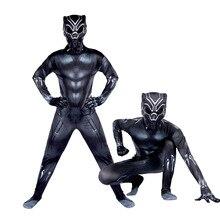 Carnaval anime cosplay trajes para crianças máscara roupas crianças halloween black panther traje para meninos