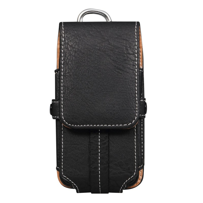 Multifunctional Mobile Phone Storage Waist Bag Practical PU Leather Durable Phone Pouch Suitable For 3.5-6.3inch Smartphone