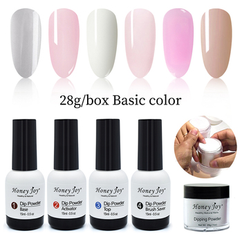 Very Fine 28g/Box French White Clear Pink Nude Dipping Powder No Lamp Cure Nails Dip Powder Natural Dry Gel Nail Salon Effect 18g box french pink and white dipping powder no lamp cure nails dip powder clear pink gel nail powder natural dry for nail salon