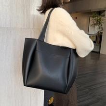 Casual women shoulder bags large capacity female big totes designer luxury soft pu leather lady purses and handbags bolsas brown