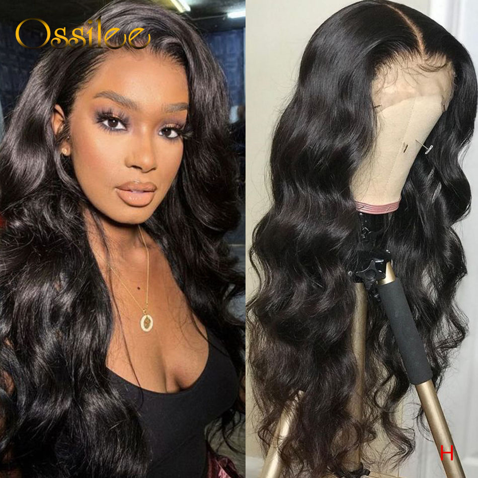 Brazilian Body Wave Lace Front Human Hair Wigs Remy 13x4 Lace Front Wigs For Women Pre Plucked Lace Wig 150% Natural Hairline
