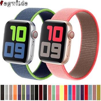 Strap For Apple Watch Band 40mm 44mm Iwatch Band 42mm Nylon Loop Bracelet Belt Pulsera Correa Apple Watch Series 5 4 3 38 42 44