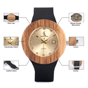 Image 3 - BOBO BIRD Complete Calendar Watch Women Zebra Quartz Wood Wristwatch Ladies Wooden Watches relogio feminino Dropship