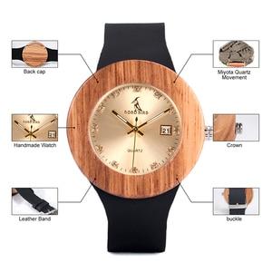 Image 3 - BOBO BIRD kompletny zegarek z kalendarzem kobiety Zebra zegarek kwarcowy z drewna panie drewniane zegarki relogio feminino Dropship
